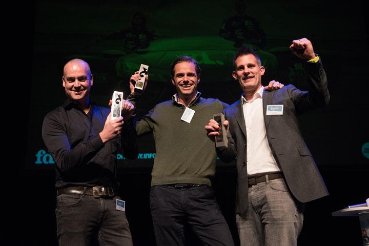 Erik Kramer en andere winnaars FD Gazellen Award uitreiking